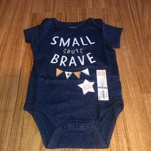 """💐3/$20 NWT Jumping Beans """"Small but Brave"""" Onesie"""